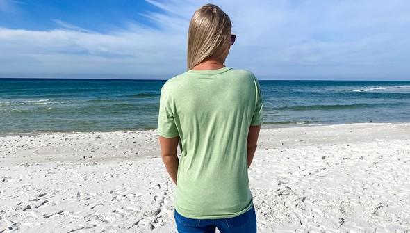 134268 beach lucky short sleeve tee women sea green slider5 original