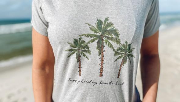 119069 christmas palm trees v neck tee women ash slider2 original