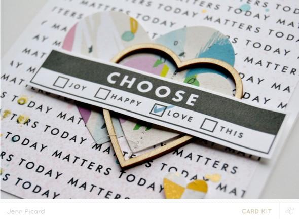 Choose love close up