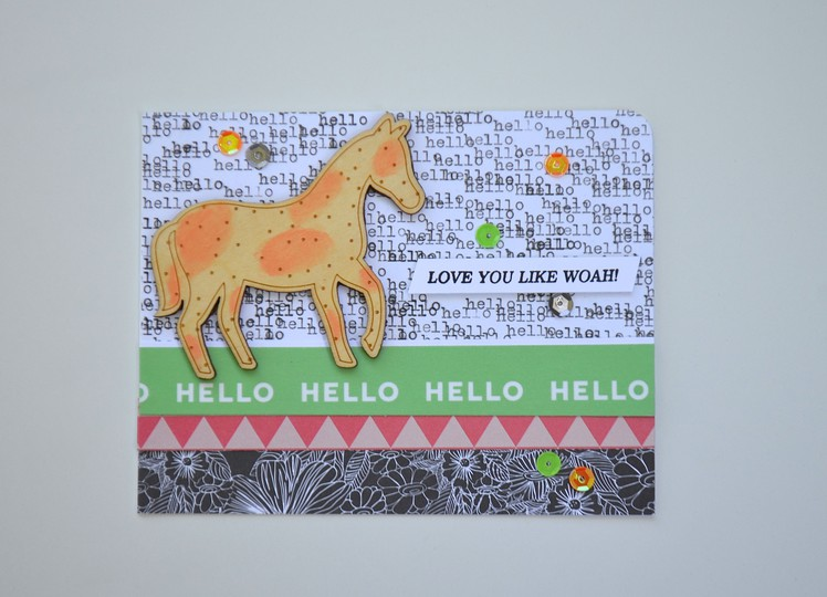 Love you horse card os2 original