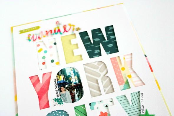 New york city scrapbooking layout 3 original