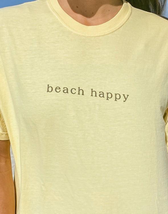 154045 simple beach happy comfort colors short sleeve tee butter women slider 2 original