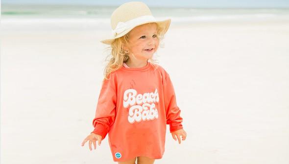 152621 beach babe long sleeve sun shirt kids coral slider1 original