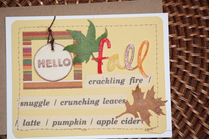 Fall card original