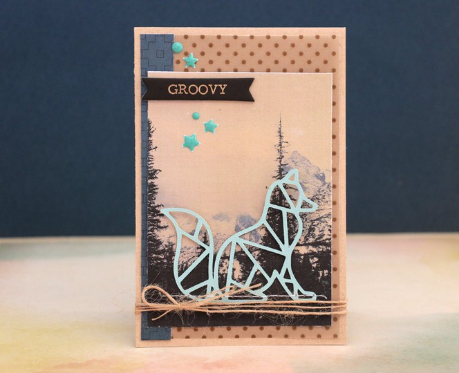Groovy card by natalie elphinstone original