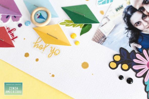 Americancrafts zinia stickerbooklayout glittergirl 02 original