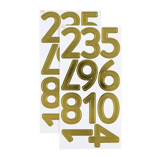Picture of December Daily® Gold Foil Number Sticker Sheet