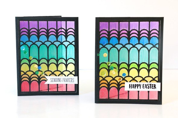 Stained glass window cards by natalie elphinstone 2 original