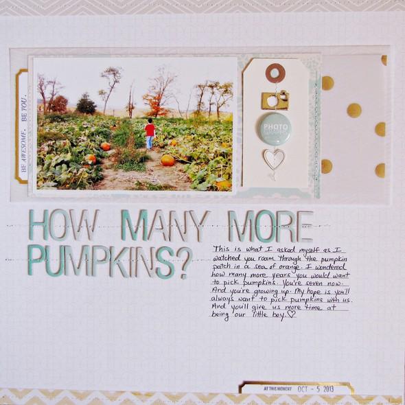 How many more pumpkins   b