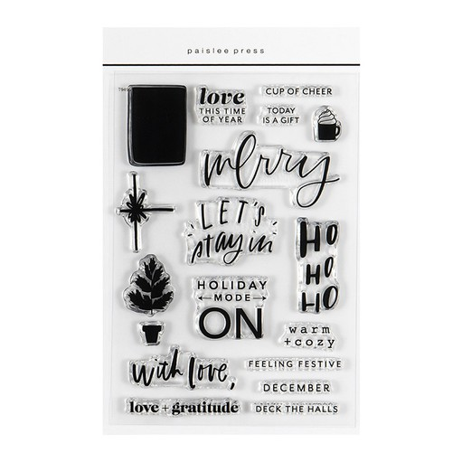 Picture of December Daily® 2021 Holiday 4x6 Stamp Set by Paislee Press