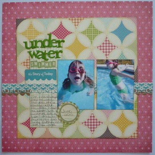 Under water swimmer small