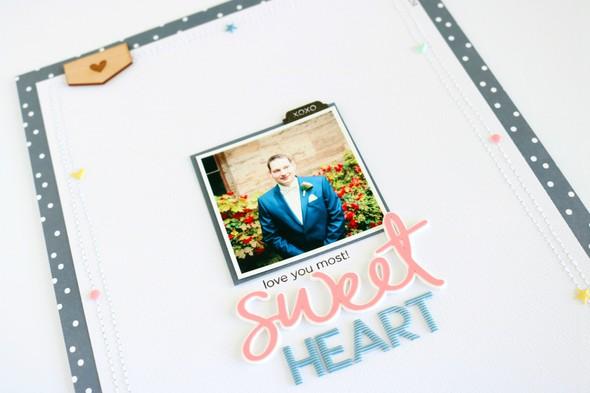 Sweetheart scrapbooking layout 3 original