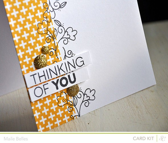 Thinking of you card detail