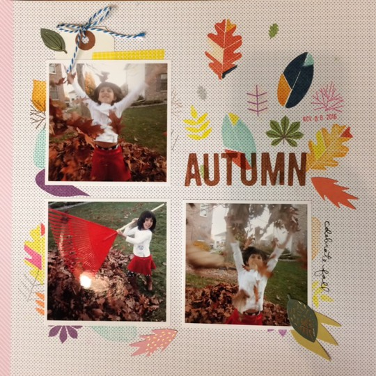 Autumn fall foliage stamp sub original