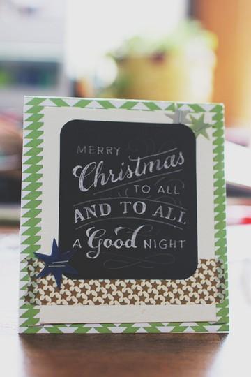 Christmas card studio calico