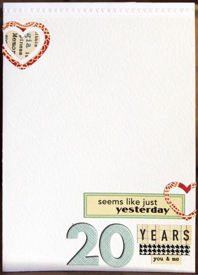 20 years card