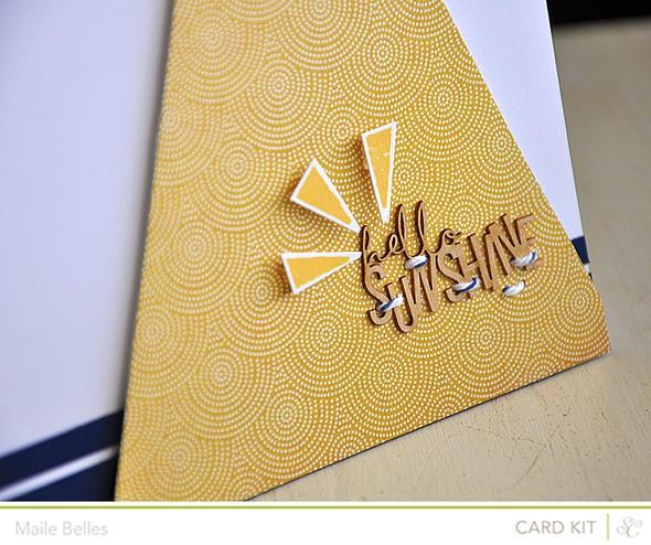 Hello sunshine card detail (card kit)