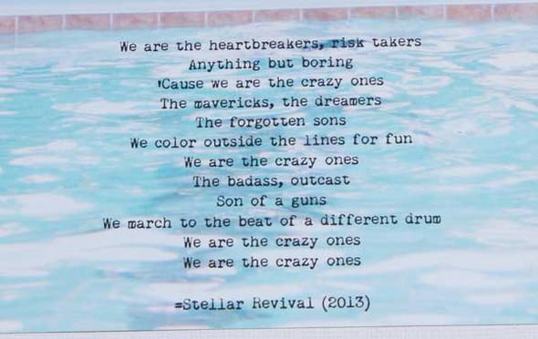 Wearethecrazyones lyricscloseup original
