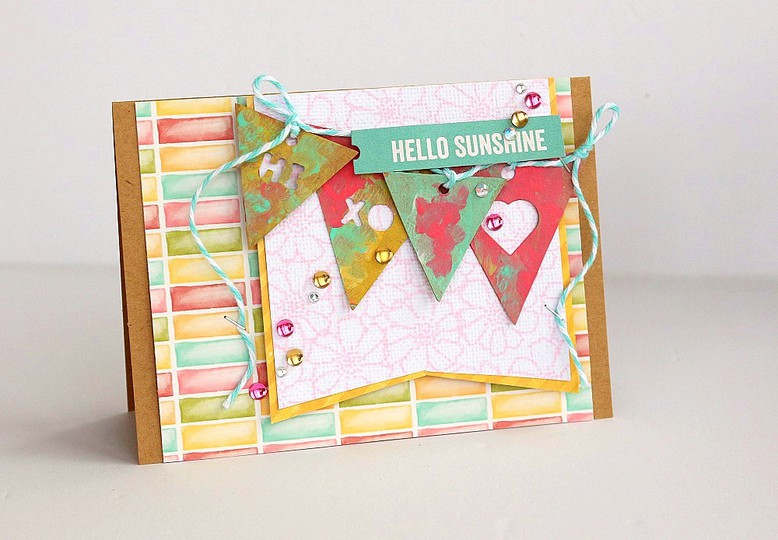 Hello sunshine card by sarah webb original