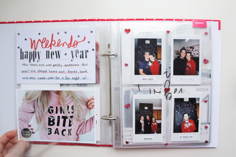 2017 project life set up and flip through of january in a 6x8 pl album %25285%2529 original