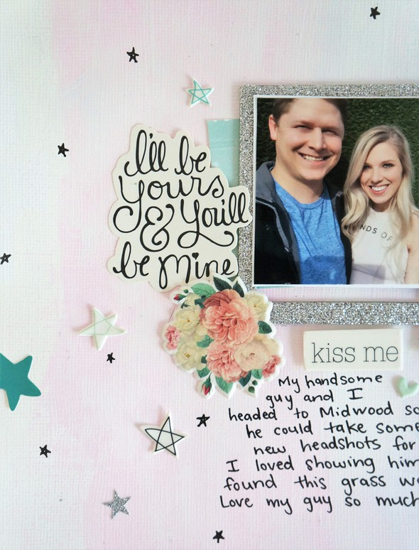 Everyday with you layout  watercolor paint background and hand drawn stars %25283%2529 original