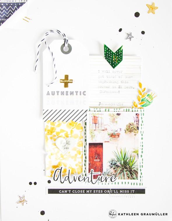 Adventure scatteredconfetti scrapbooking layout pinkfreshstudio escapetheordinary bloghop 2 original
